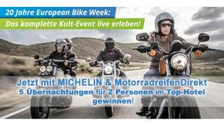 MotorradreifenDirekt.de und Michelin bringen Fans zur European Bike Week 2017