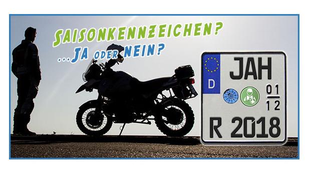 Sonne, Herbst und Winter: MotorradreifenDirekt.de klärt auf, ob ein Saisonkennzeichen wirklich die beste Wahl ist