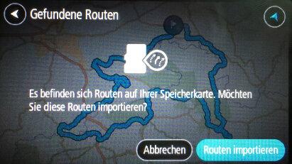 GPS-Touren von SD-Karte auf TomTom importieren