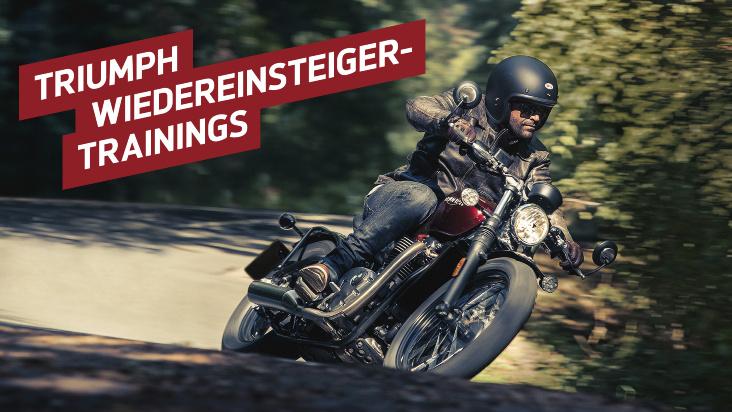 Mit Stil und Spaß zurück aufs Motorrad: die neuen Wiedereinsteiger-Trainings der Händler von Triumph