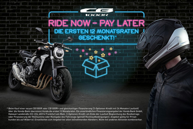 Aktion Ride Now - Pay Later für die CB1000R
