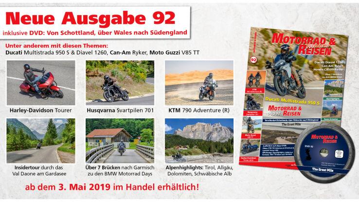 Motorrad & Reisen Ausgabe 92 mit DVD