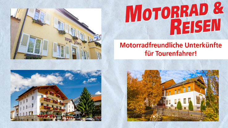 Motorradfreundliche Unterkünfte - M&R Hotels