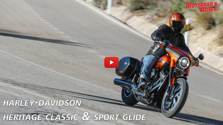 Harley-Davidson Heritage Classic & Sport Glide - Fahreindrücke