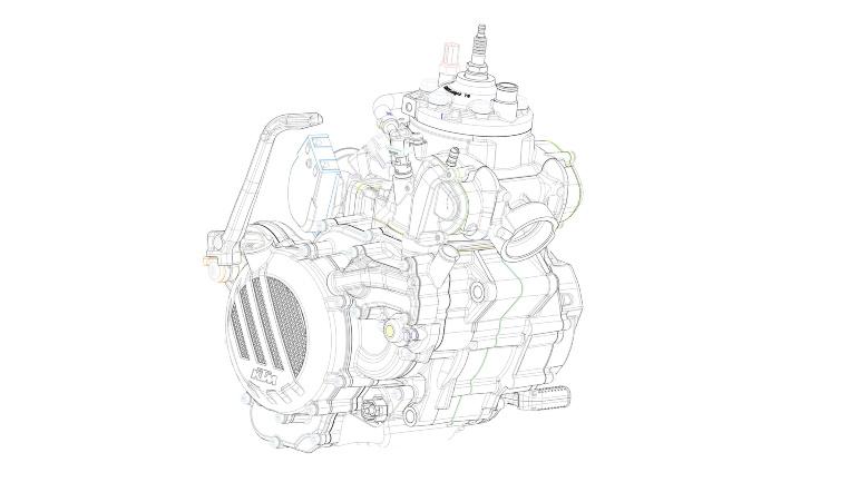 Motor der künftigen KTM EXC-Modellreihe 2018