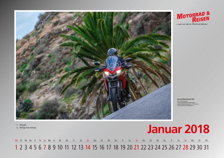 Foto- Wandkalender Motorräder 2018 A3