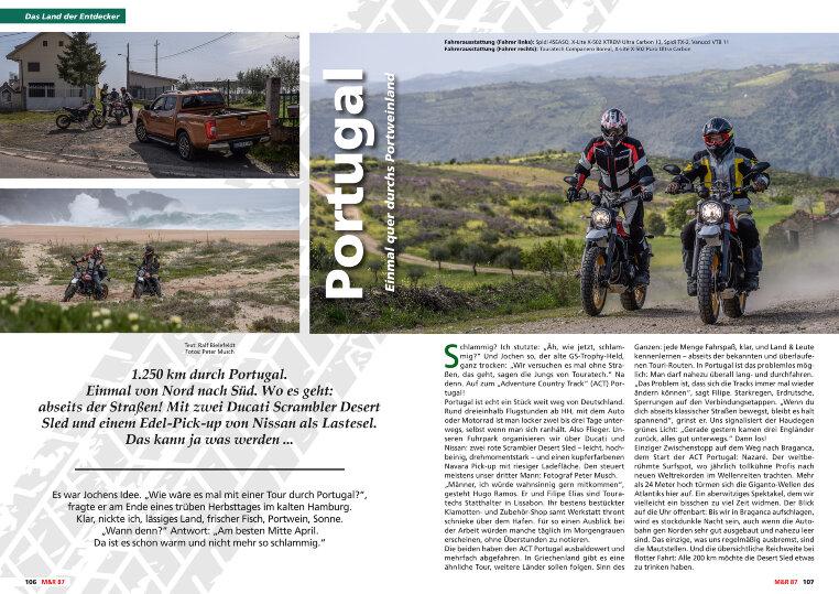 Einmal von Nord nach Süd, 1.250 km durch das Portweinland - Portugal