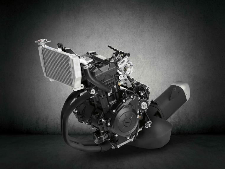 Der 321ccm Zweizylinder der YZF-R3 für 2019