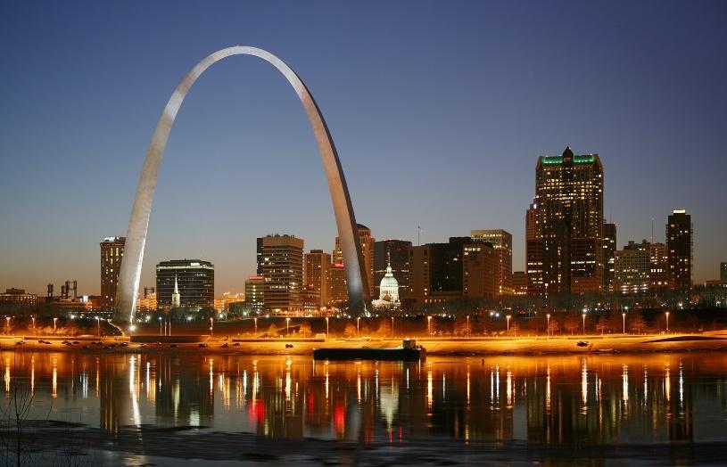 Der Gateway Arch in St. Louis.