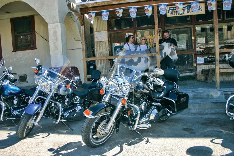 Unsere Motorräder warten schon gespannt.