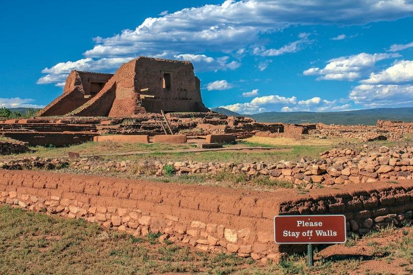 Das Pueblo am Santa Fe Trail.