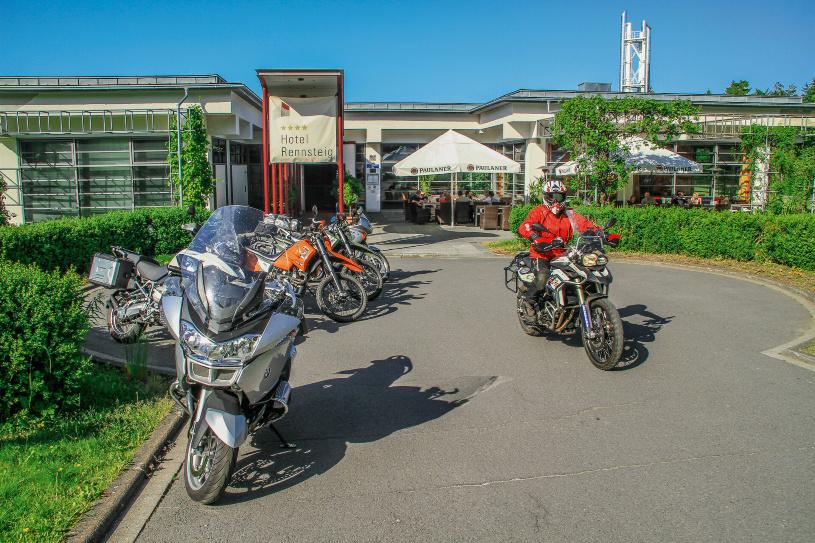 Ziel erreicht -  Das M&R Hotel Rennsteig in Masserberg.