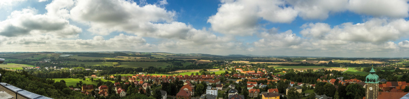 Das Dorf Stolpen, am Fuße der Burg.