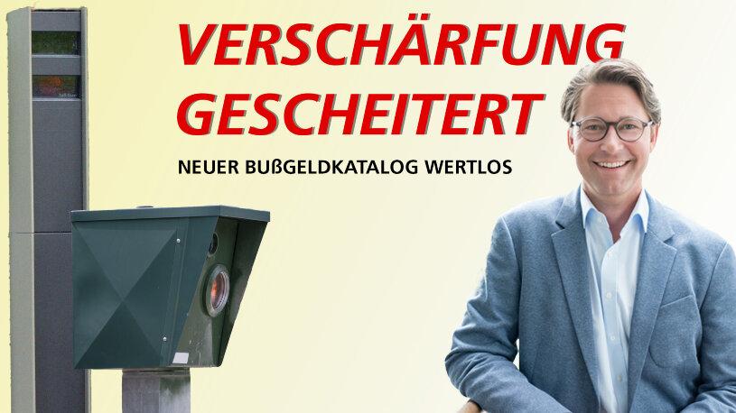 Bußgeldkatalog mit verschärften Strafen zu Fahrverboten scheitert wegen eines Formfehlers. Verkehrsminister Andreas Scheuer steht in der Kritik.