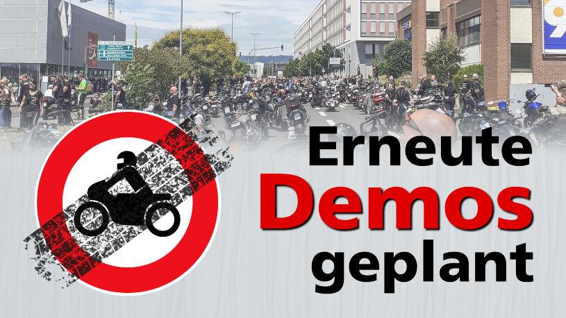 Demonstrationen und Kundgebungen gegen Motorradfahrverbote und Streckensperrungen an Sonn- und Feiertagen werden fortgesetzt.