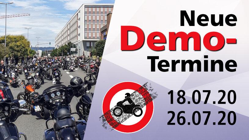 Neue Termine von Demonstrationen gegen Motorradfahrverbote an Sonn- und Feiertagen sind geplant