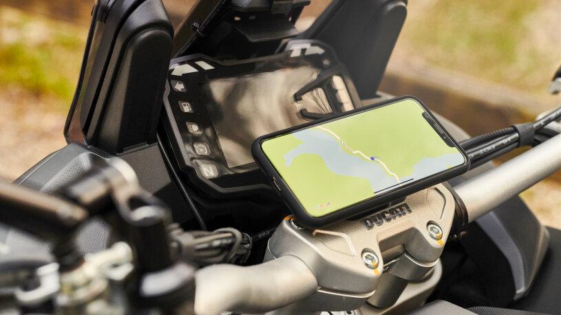 Ducati Performance Touring-Zubehör Smartphone Unterstützung