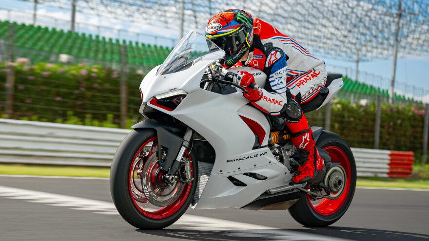 Neue Lackierung für die Ducati Panigale V2 – White Rosso