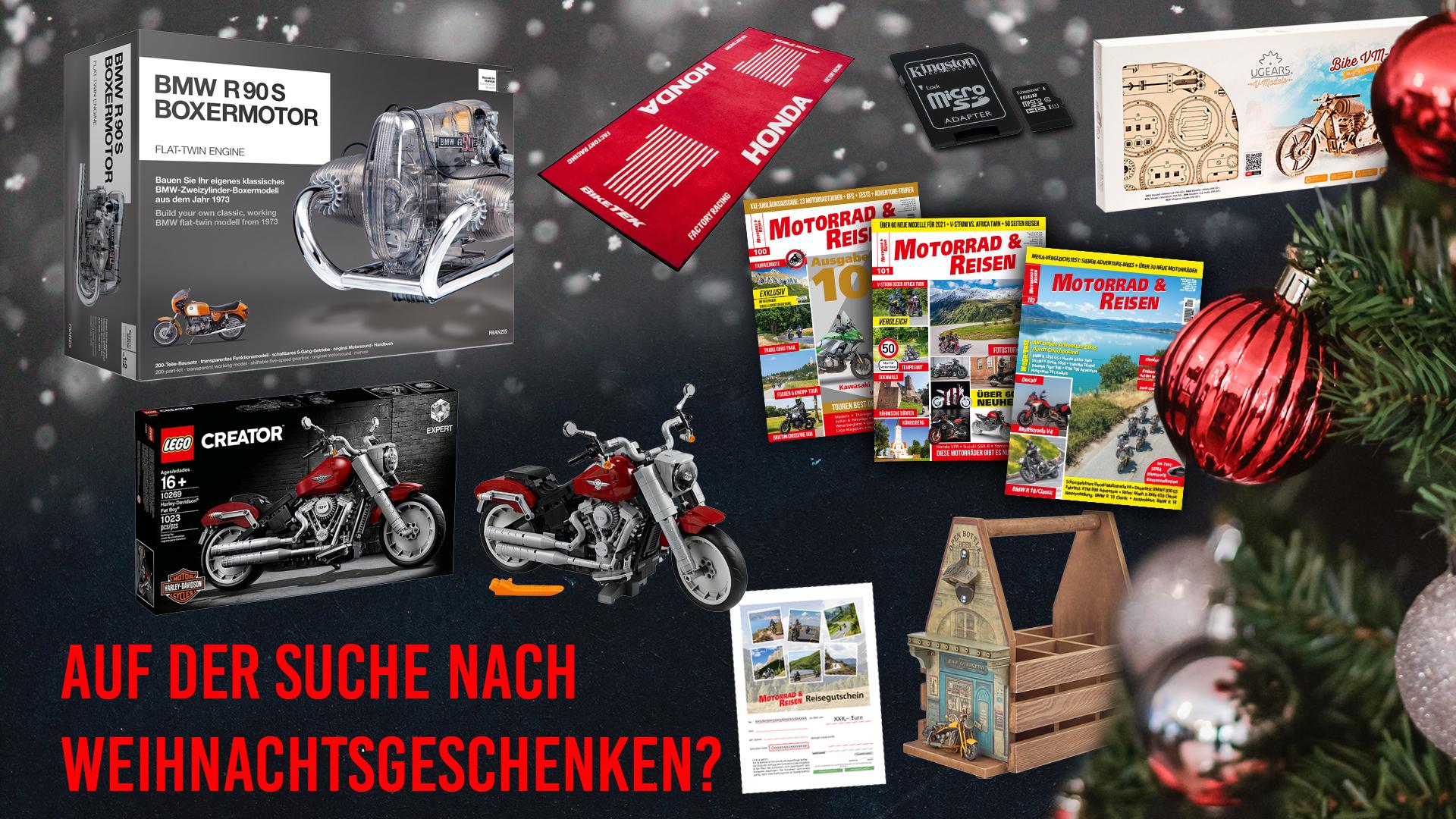 Weihnachtsgeschenke für Motorradfahrer