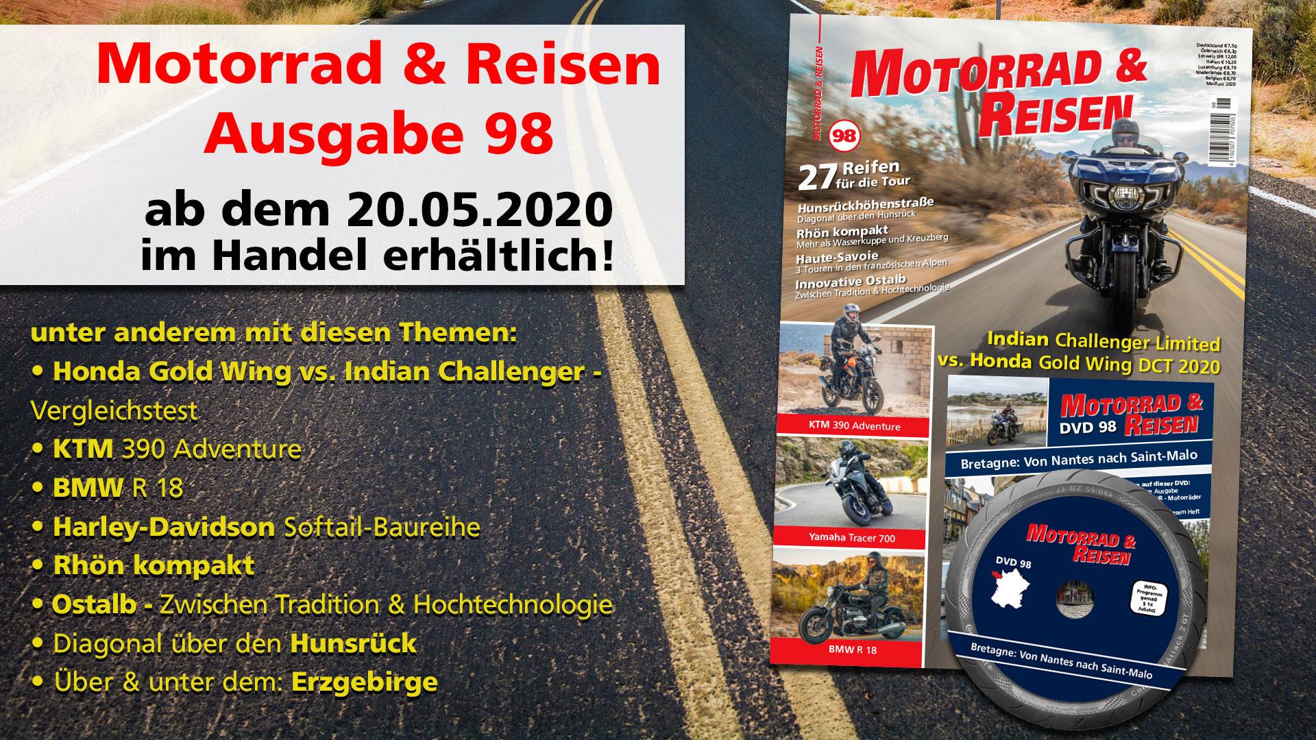 Motorrad & Reisen Ausgabe 98 optional mit DVD Bretagne