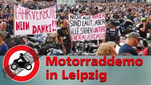 Motorrad-Demo in Leipzig 2021