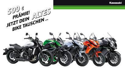 Frühstarter-Aktion bei Kawasaki – Bike tauschen und 500,-- Euro Prämie kassieren