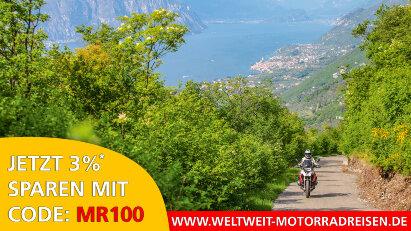 Jetzt Motorradreise buchen und 3 %* sparen!
