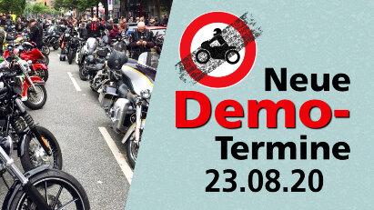 Demonstrationen gegen Motorradfahrverbote am 23.08.20 in Deutschland und Österreich