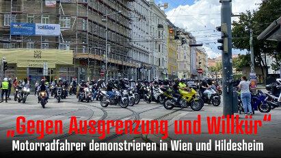 Motorraddemos am 23. August in Wien und Hildesheim