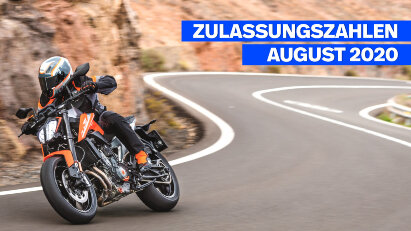 Motorrad Zulassungszahlen August 2020 - KTM mit drei Modellen in den Top10