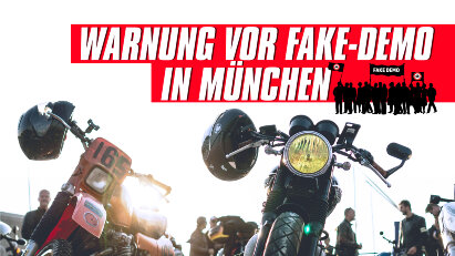 Warnung vor falscher Motorrad-Demo am 17.10. in München