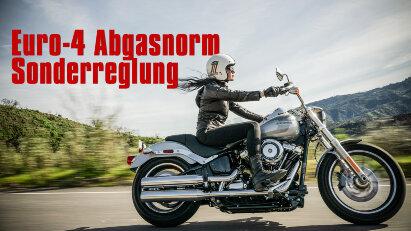 Euro-4 Abgasnorm Sonderreglung: Motorradhandel entlastet