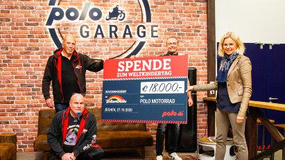 Weltkindertag die Zweite: POLO spendet 18.000 Euro an Biker4Kids
