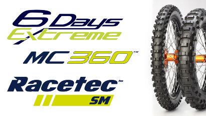 Motorradreifen von Metzeler: MCE 6 DAYS EXTREME, MC360 und RACETEC SM