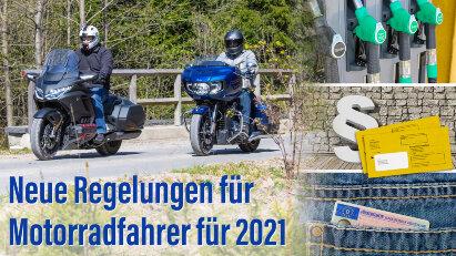 Neue Regelungen für Motorradfahrer für 2021
