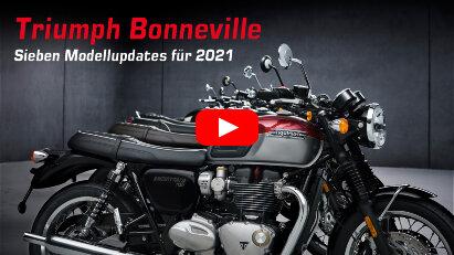 Triumph Bonneville: Sieben neue Modelle für 2021