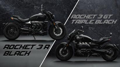 Triumph Rocket 3 R Black & Rocket 3 GT Triple Black: Schwarze Sondermodelle in limitierter Stückzahl