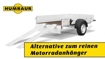 Humbaur HA Multi: Alternative zum reinen Motorradanhänger