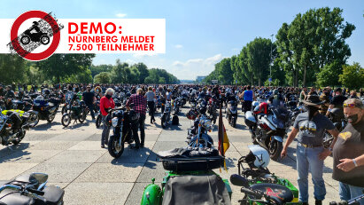 Keine Fahrverbote! 7.500 Motorradfahrer demonstrierten am 1. Mai in Nürnberg