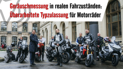 Geräuschmessung in realen Fahrzuständen: Überarbeitete Typzulassung für Motorräder