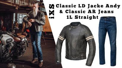 iXS Classic Classic LD Jacke Andy und Classic AR Jeans 1L Straight