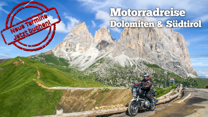 8-tägige Motorradreise in den Dolomiten: neue Termine buchbar!