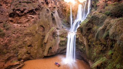 Marokko Motorrad Reise Cascades Ouzoud