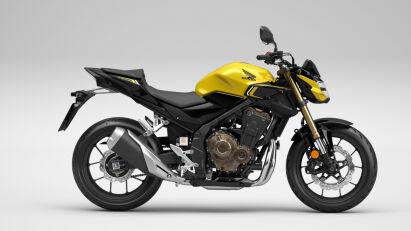 Honda CB500F in Pearl Dusk Yellow