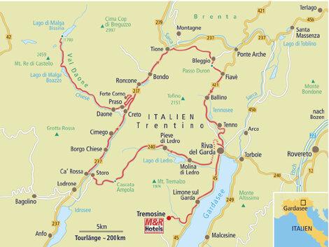 Karte Italien Gardasee.Motorradtour Insidertour Gardasee