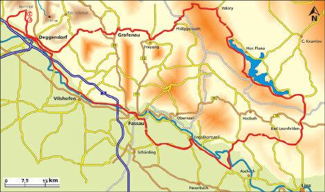 Dreiländereck Bayerischer Wald Karte.Motorradtour Bayerischer Wald Co Dreiländereck