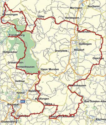 berge bayerischer wald karte