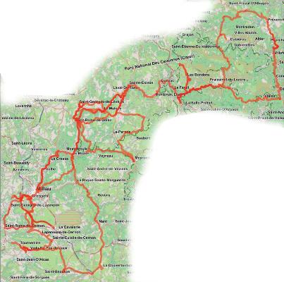 Cevennen Karte.Motorradtour Köstliche Cevennes