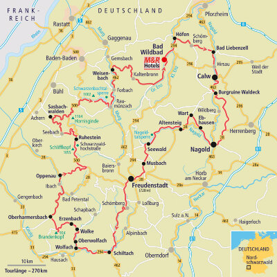 Nordschwarzwald Karte.Motorradtour Insiderrunde Nordschwarzwald