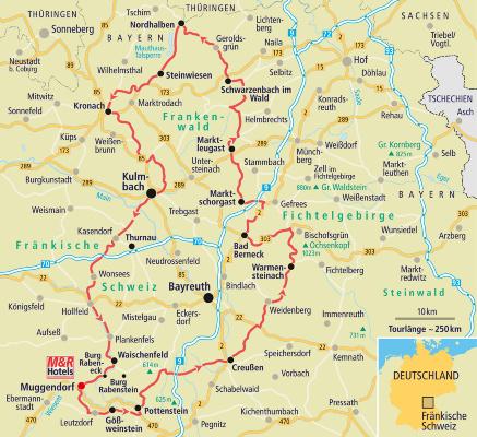 Fränkische Schweiz Karte.Motorradtour Fränkische Schweiz Im Land Der Burgen Und Brauereien